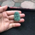 s6865 1 150x150 Phật bản mệnh Phỉ Thúy xanh đậm sắc sảo A+ nhỏ tuổi Tý S6865 1