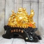 ln188 phat di lac ngu dong tu 1 150x150 Phật di lạc vàng bên ngũ đồng tử LN188
