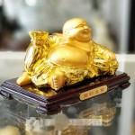 ln190 phat di lac vang 1 150x150 Phật di lạc tay cầm nén vàng trên túi tiền LN190