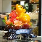 tm003 chuot cam mau don 1 150x150 Chuột ngọc cam trên mẫu đơn ôm hồ lô TM003