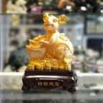 tm010 chuot vang nen vang 150x150 Chuột vàng ôm nén vàng đế gỗ TM010