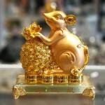 tm020 chuot vang de thuy tinh 1 150x150 Chuột vàng ôm thơm vàng đế thủy tinh TM020