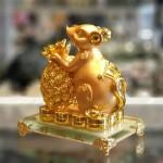tm020 chuot vang de thuy tinh 150x150 Chuột vàng ôm thơm vàng đế thủy tinh TM020